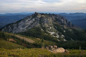 Castle Crags from Castle Peak.