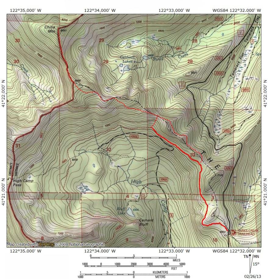 Topo Map Hike Mt Shasta