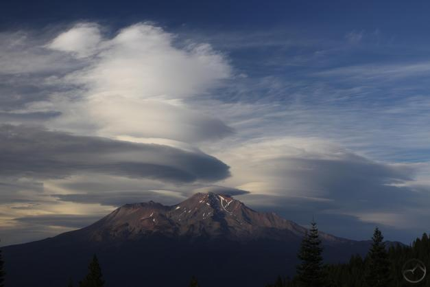 The grand finale over Mount Shasta.