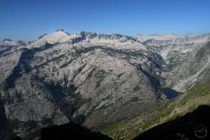 Rugged mountains of the Trinity Alps.