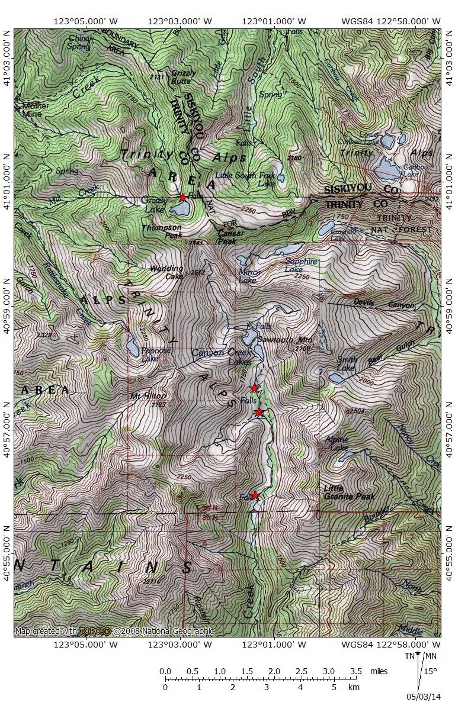 Mount Shasta Area Waterfalls: Giants of the Trinity Alps | Hike Mt ...
