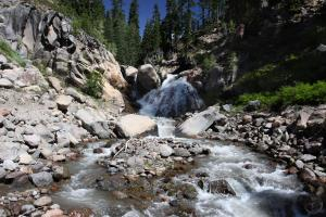 A remote waterfall in Mud Creek Canyon.