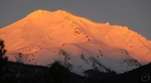 Mount Shasta sunset from the Gateway Trail