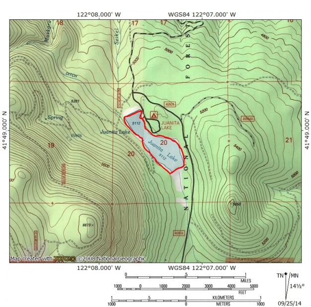 Juanita Lake map
