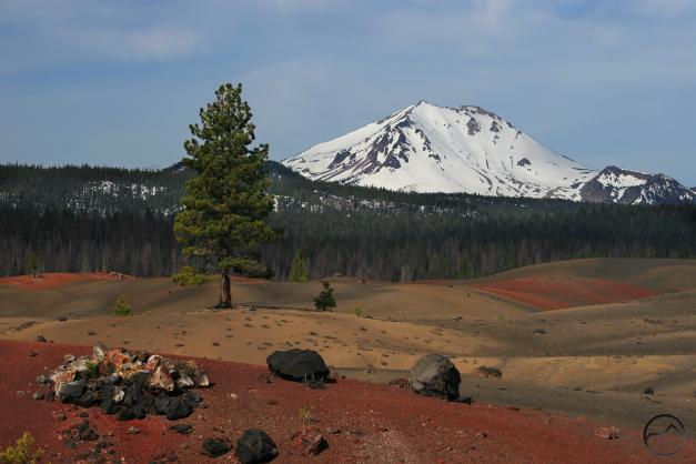 Lassen Peak viewed from the Painted Dunes