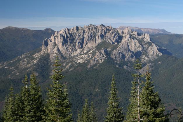 The Castle Crags are an isolated granite pluton.