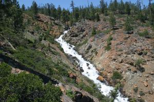 A section of the surging Wagon Creek cascades.