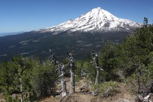 Good views of Mount Shasta while climbing.