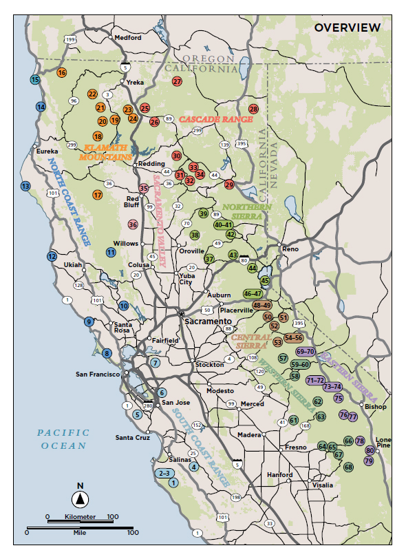 Northern California Map Of Mountain Ranges.Maps Hike Mt Shasta