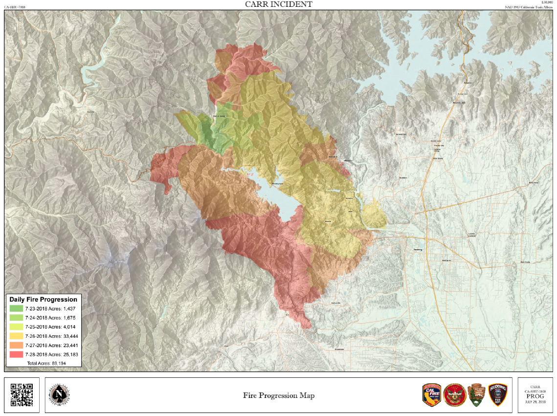 Carr Fire Maps Monday Hike Mt Shasta