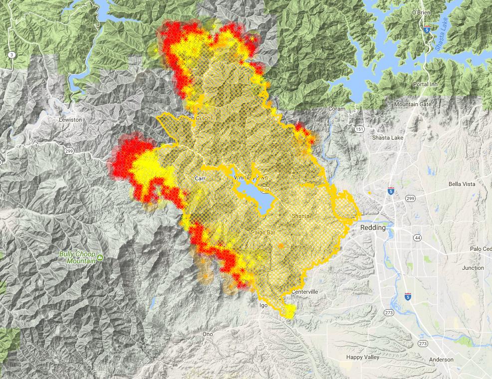 Carr Fire Maps Tuesday Hike Mt Shasta